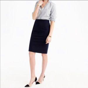 J Crew No. 2 pencil skirt in black size 0, 35582